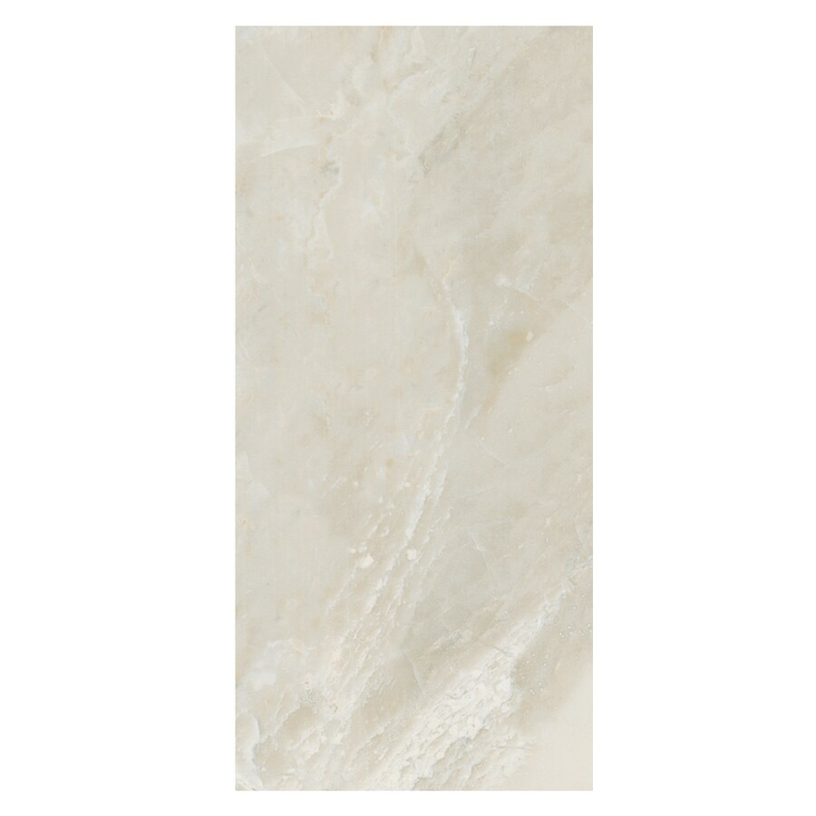 American Olean Mirasol 12-Pack Silver Marble Ceramic Wall Tile (Common: 10-in x 14-in; Actual: 9.84-in x 13.75-in)