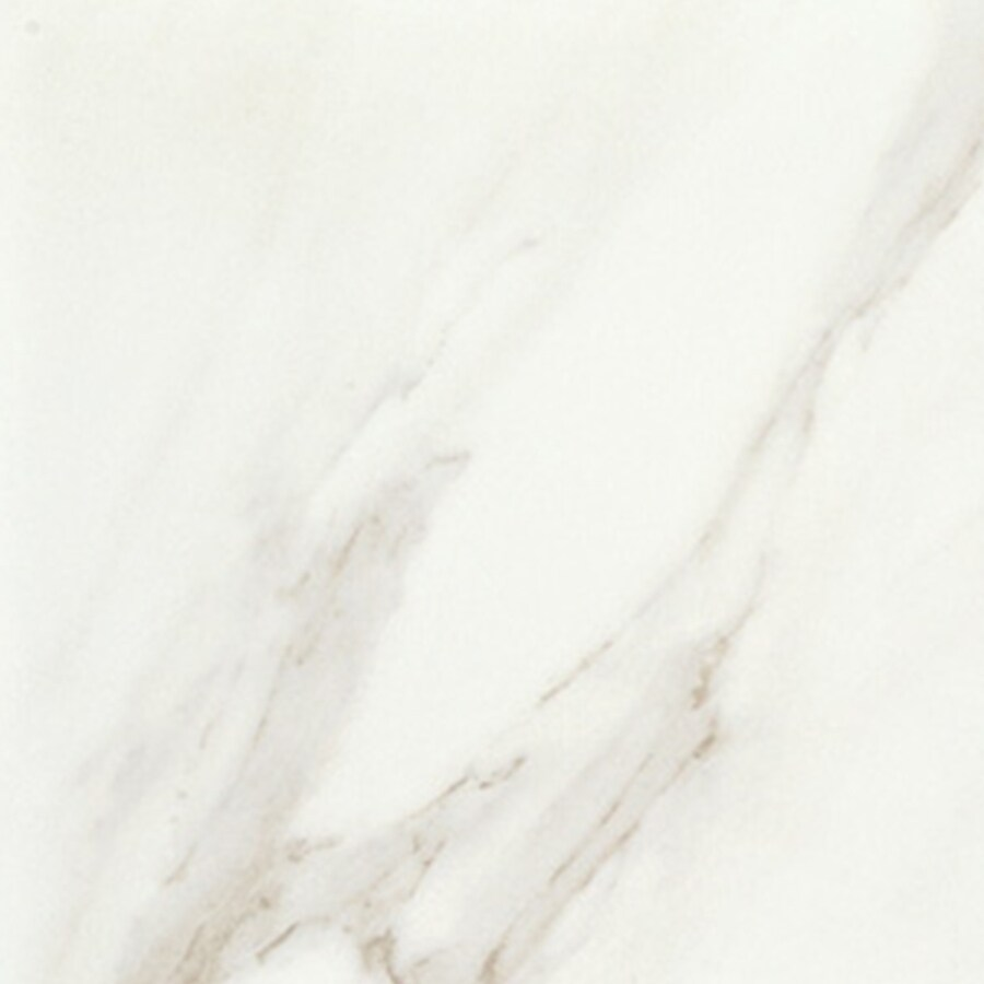 American Olean Mirasol 4-Pack Bianco Carrara Porcelain Floor and Wall Tile (Common: 23-in x 23-in; Actual: 23.43-in x 23.43-in)
