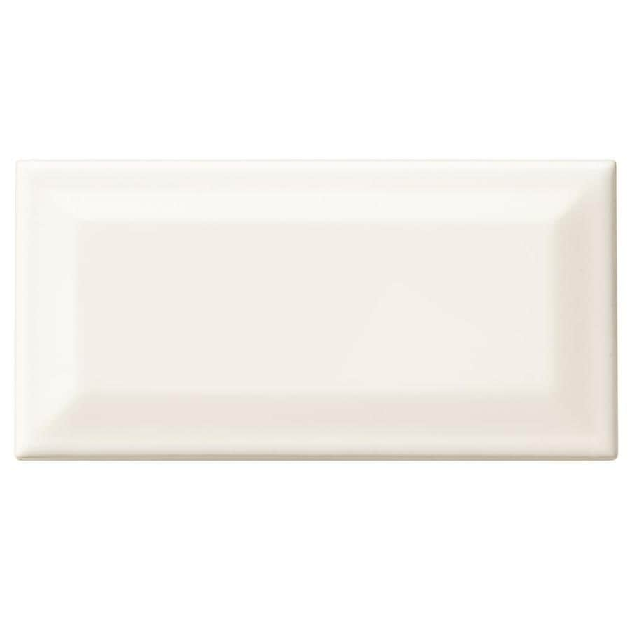 Shop american olean starting line gloss white ceramic wall tile american olean starting line gloss white ceramic wall tile common 3 in x dailygadgetfo Gallery