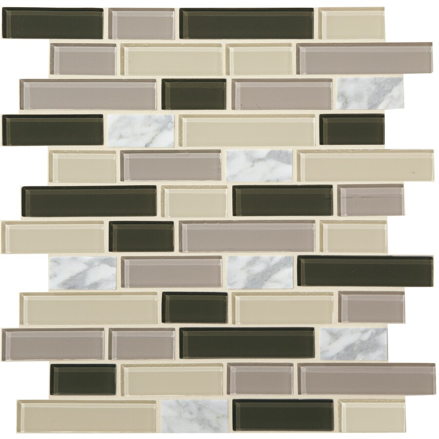 Shop American Olean Best Buy Cappuccino Mixed Material Mosaic ...