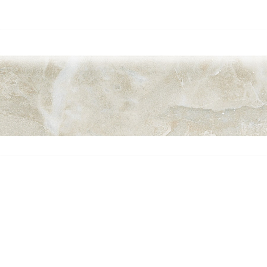 Shop american olean mirasol silver marble ceramic bullnose tile american olean mirasol silver marble ceramic bullnose tile common 3 in x 10 dailygadgetfo Choice Image