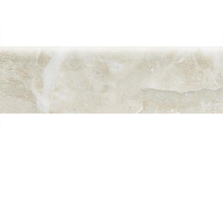 American Olean Mirasol Silver Marble Ceramic Bullnose Tile (Common: 3-in x 10-in; Actual: 2.87-in x 9.84-in)