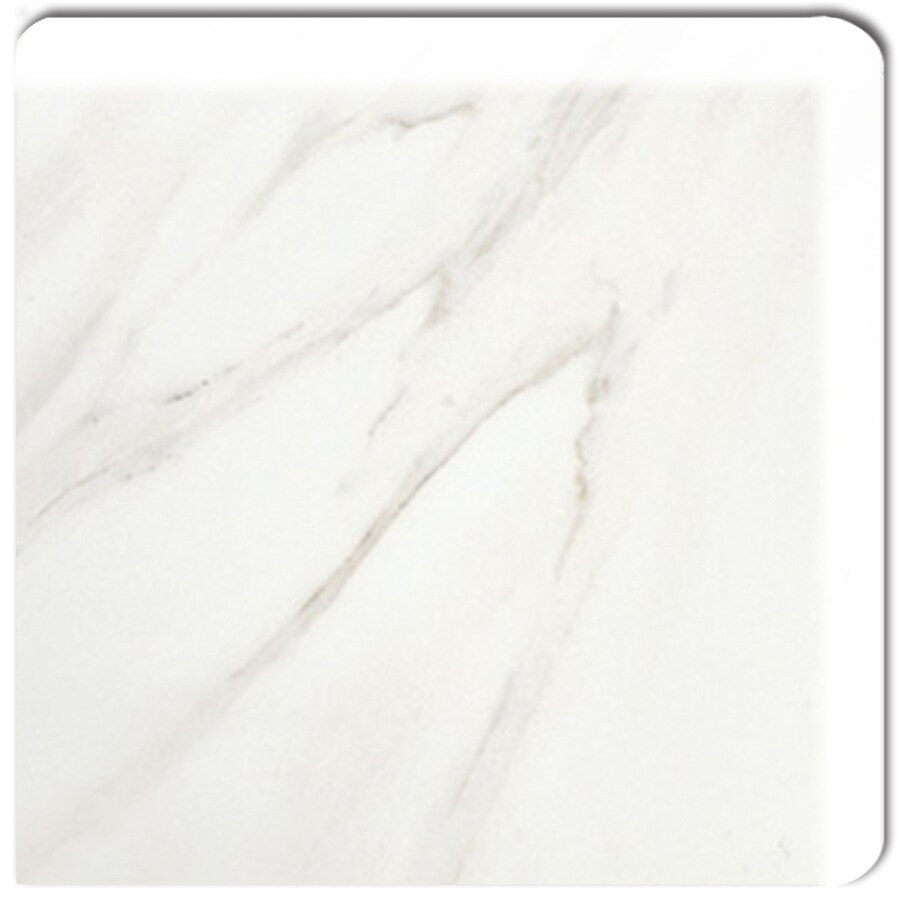 American Olean Mirasol Bianco Carrara Ceramic Bullnose Corner Tile (Common: 3-in x 3-in; Actual: 2.87-in x 2.87-in)