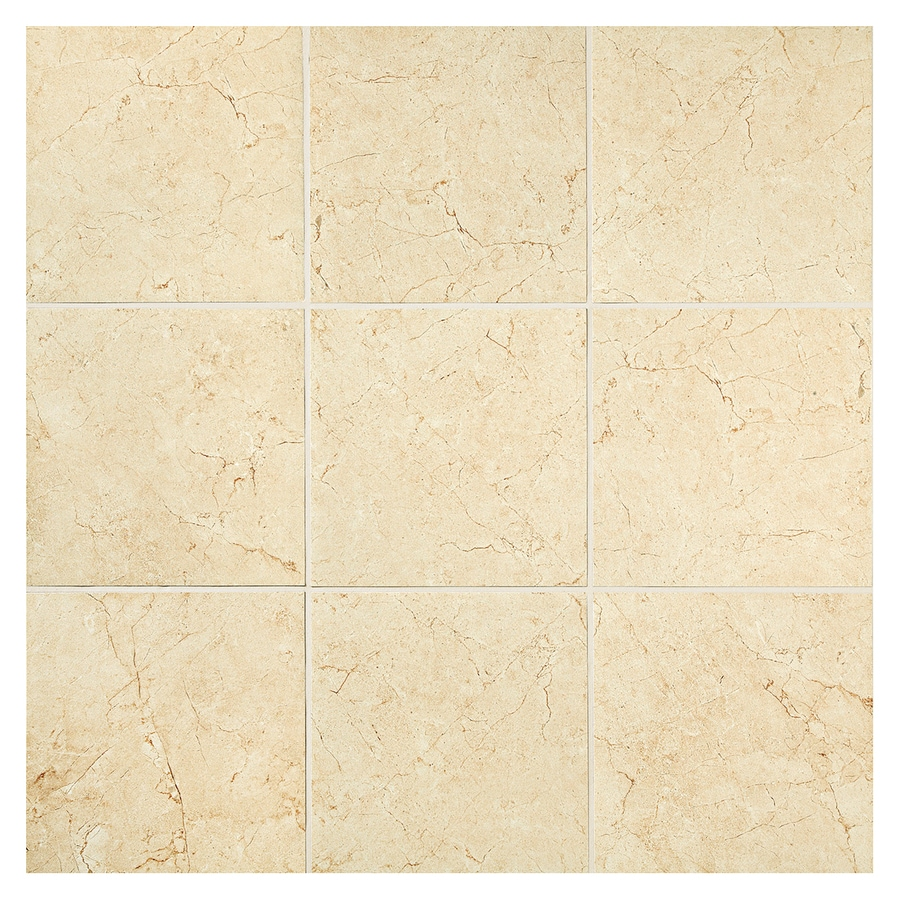 American Olean Mirasol 12-Pack Crema Laila Brick Mosaic Porcelain Floor and Wall Tile (Common: 12-in x 12-in; Actual: 11.87-in x 11.87-in)