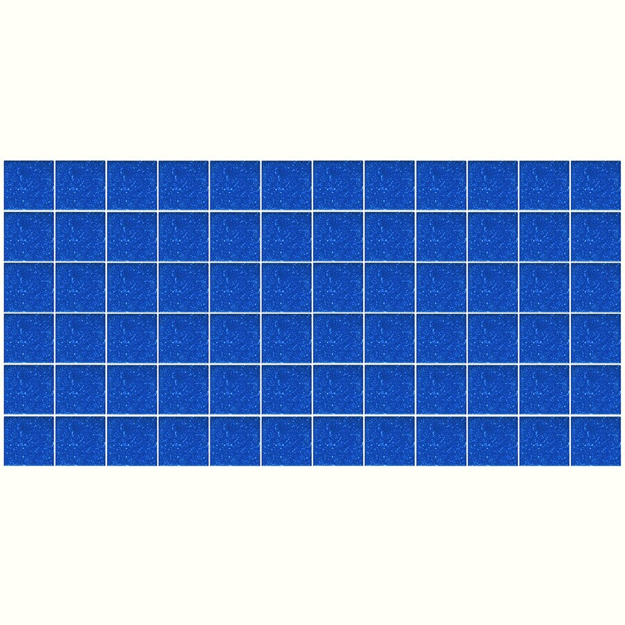 American Olean Unglazed Porcelain Mosaics 12-Pack Sapphire Sky Speckle Uniform Squares Mosaic Thru Body Porcelain Floor and Wall Tile (Common: 12-in x 24-in; Actual: 11.93-in x 23.93-in)