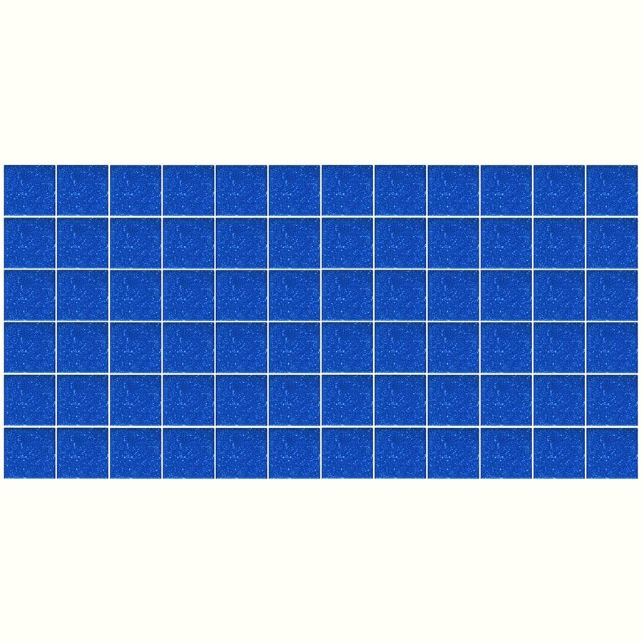 Shop American Olean Unglazed Porcelain Mosaics 12-Pack Sapphire Sky ...