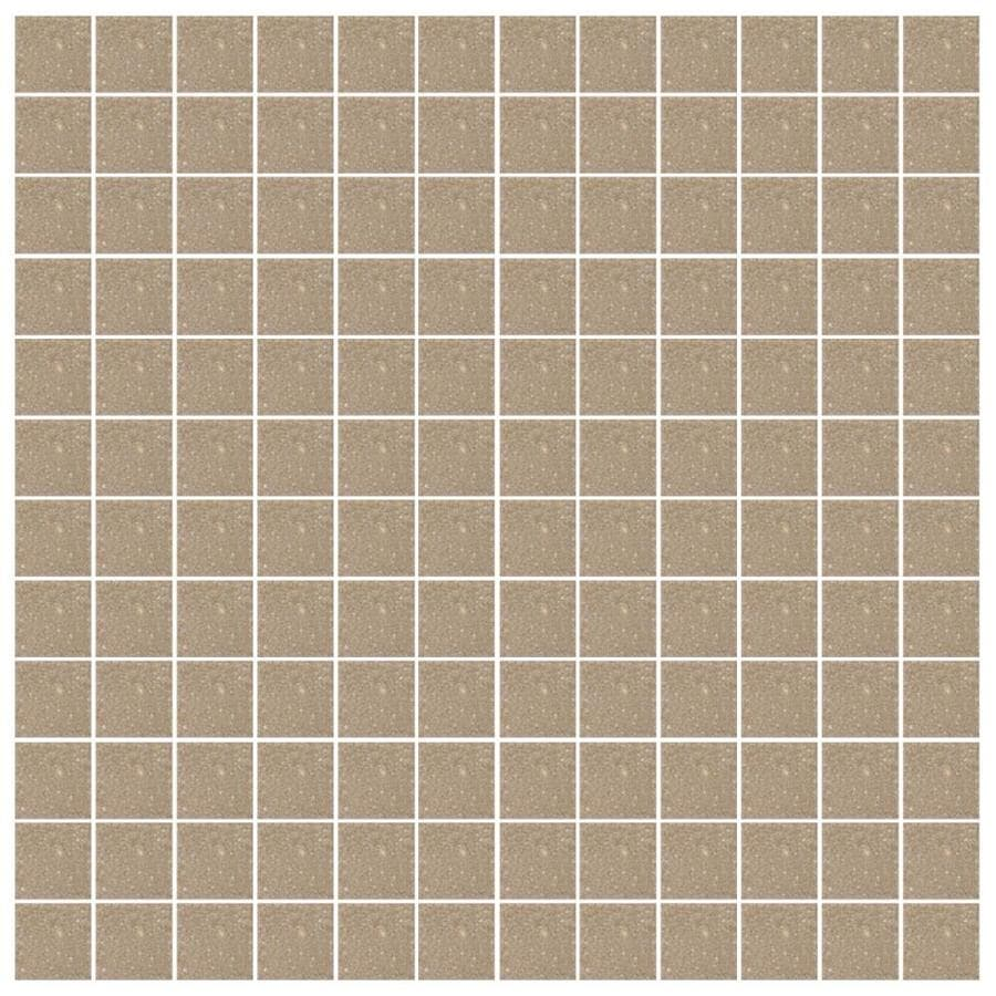 American Olean Unglazed Porcelain Mosaics 12-Pack Cocoa Uniform Squares Mosaic Thru Body Porcelain Floor and Wall Tile (Common: 12-in x 24-in; Actual: 11.93-in x 23.93-in)