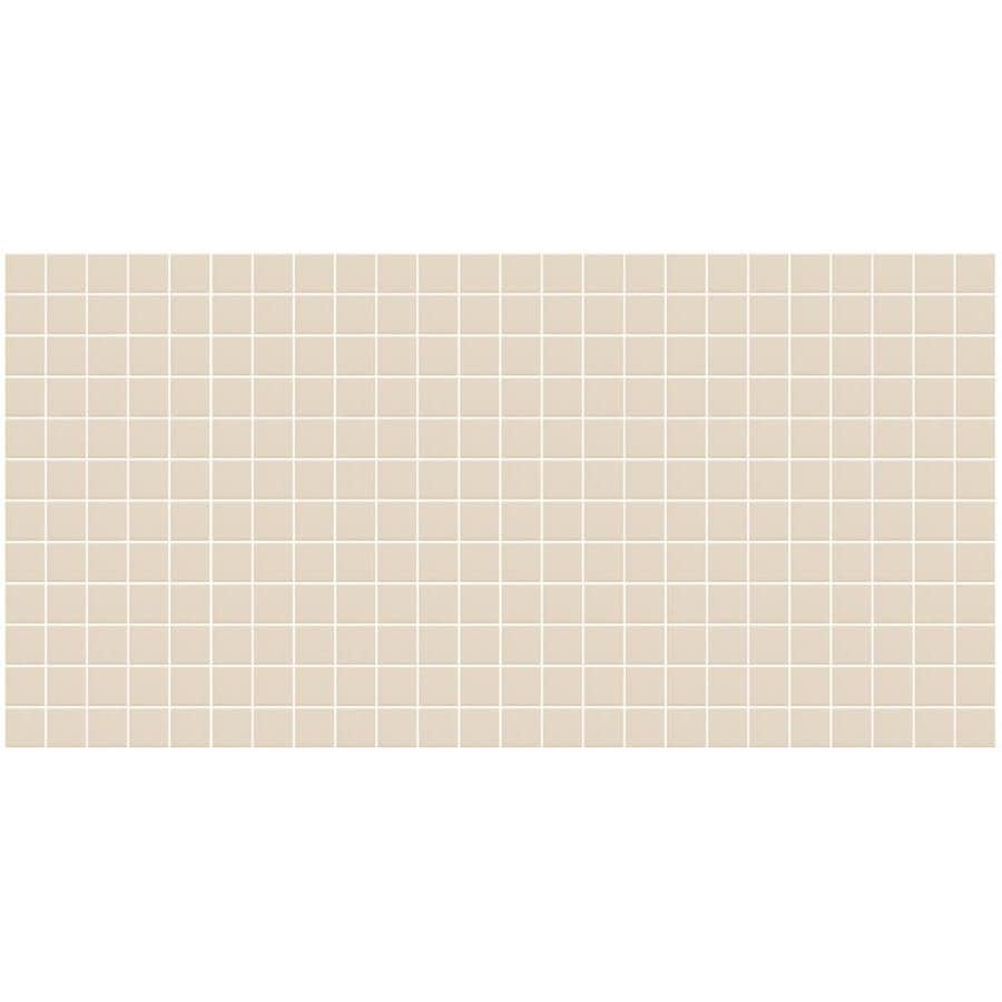 American Olean Unglazed Porcelain Mosaics 12-Pack Almond Uniform Squares Mosaic Thru Body Porcelain Floor and Wall Tile (Common: 12-in x 24-in; Actual: 11.93-in x 23.93-in)