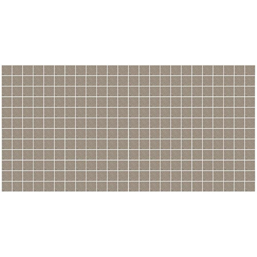 American Olean Unglazed Porcelain Mosaics 12-Pack Mushroom Speckle Uniform Squares Mosaic Thru Body Porcelain Floor and Wall Tile (Common: 12-in x 24-in; Actual: 11.93-in x 23.93-in)