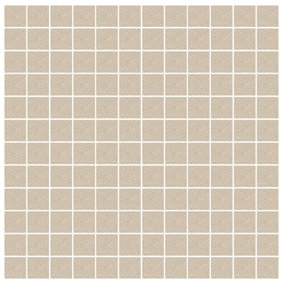 American Olean Unglazed Porcelain Mosaics Abrasive 12 Pack Willow Speckled Thru Body Uniform Squares