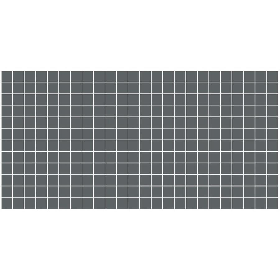 American Olean Unglazed Porcelain Mosaics 12-Pack Charcoal Uniform Squares Mosaic Thru Body Porcelain Floor and Wall Tile (Common: 12-in x 24-in; Actual: 11.93-in x 23.93-in)