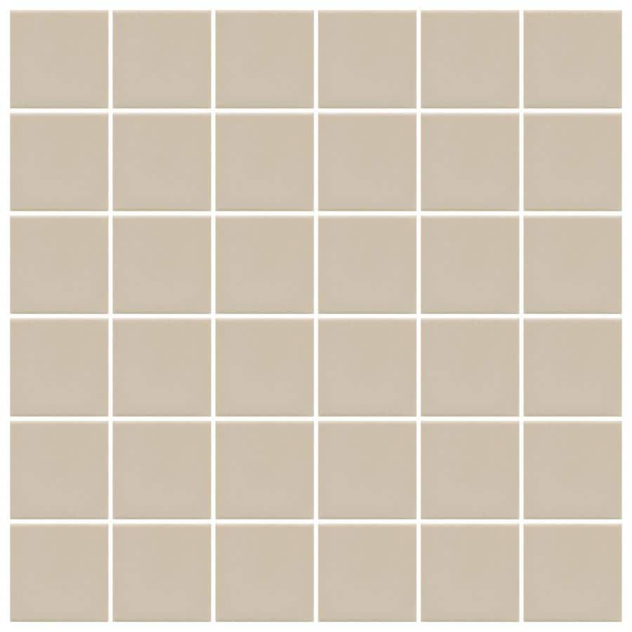 American Olean Unglazed Porcelain Mosaics 12-Pack Willow Uniform Squares Mosaic Thru Body Porcelain Floor and Wall Tile (Common: 12-in x 24-in; Actual: 11.93-in x 23.93-in)