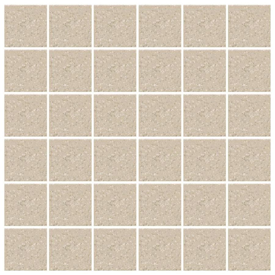 American Olean Unglazed Porcelain Mosaics Abrasive 12-Pack Willow Speckled Uniform Squares Mosaic Thru Body Porcelain Floor and Wall Tile (Common: 12-in x 24-in; Actual: 11.93-in x 23.93-in)