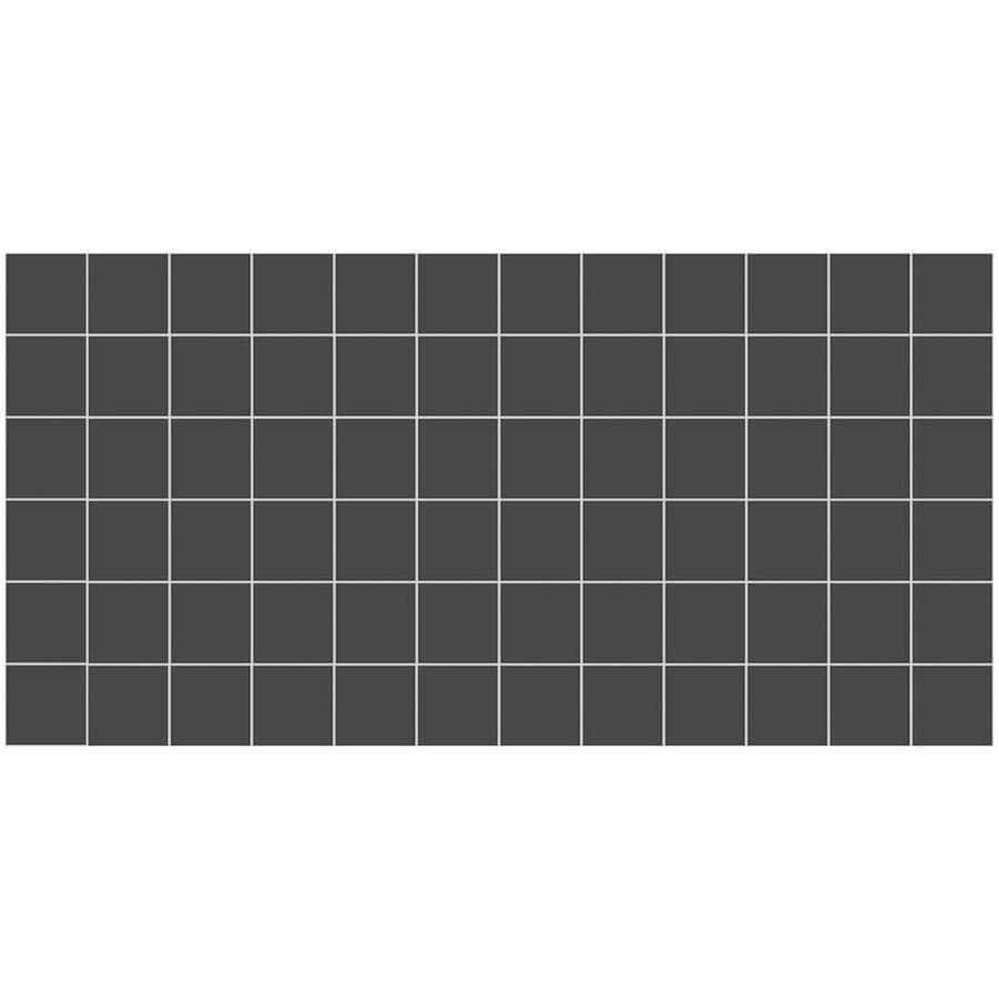 American Olean Unglazed Porcelain Mosaics Abrasive 12-Pack Black Uniform Squares Mosaic Thru Body Porcelain Floor and Wall Tile (Common: 12-in x 24-in; Actual: 11.93-in x 23.93-in)
