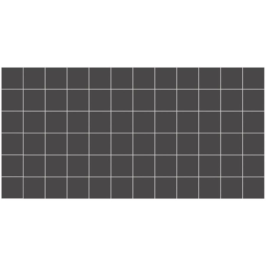 American Olean Unglazed Porcelain Mosaics 12-Pack Black Uniform Squares Mosaic Thru Body Porcelain Floor and Wall Tile (Common: 12-in x 24-in; Actual: 11.93-in x 23.93-in)