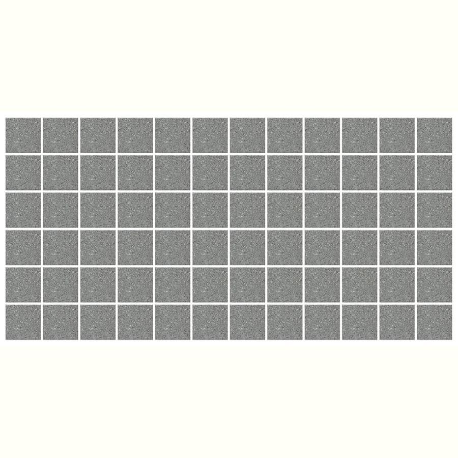 American Olean Unglazed Porcelain Mosaics 12-Pack Storm Gray Speckle Uniform Squares Mosaic Thru Body Porcelain Floor and Wall Tile (Common: 12-in x 24-in; Actual: 11.93-in x 23.93-in)