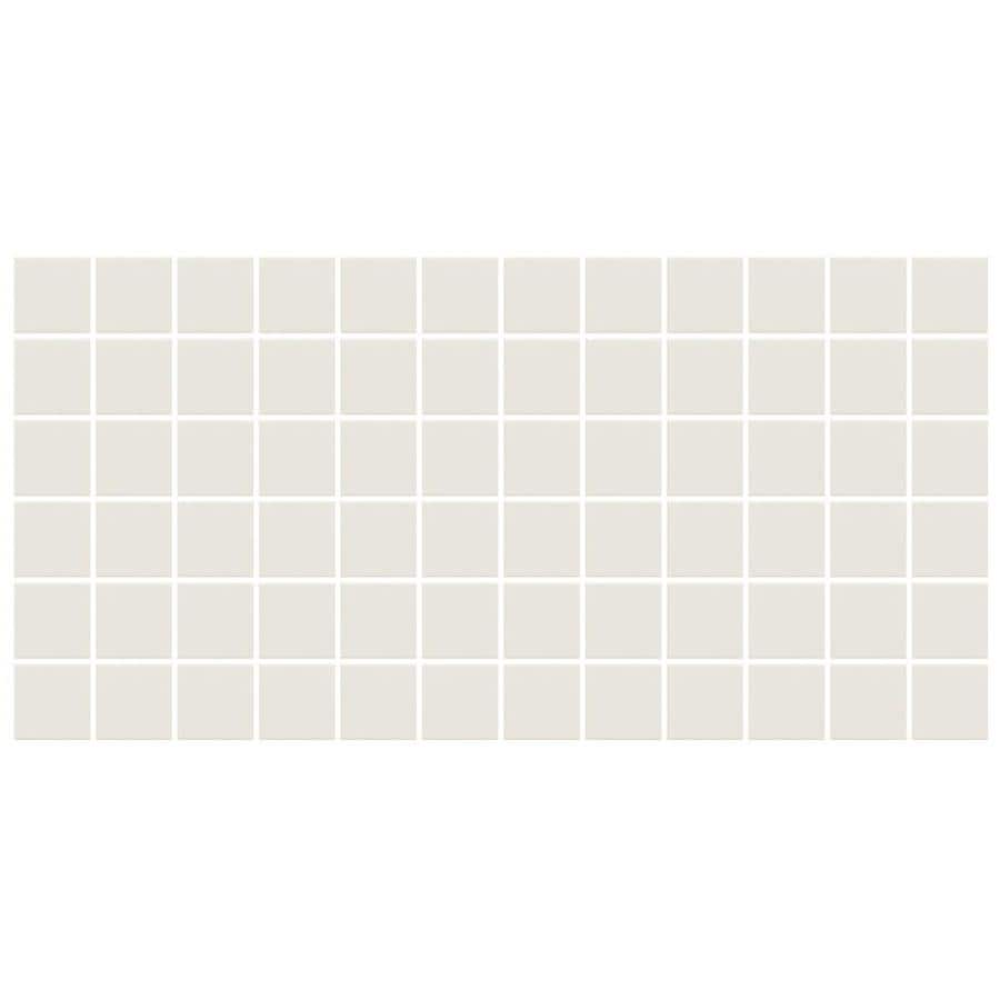 Shop american olean unglazed porcelain mosaics 12 pack ice white american olean unglazed porcelain mosaics 12 pack ice white uniform squares mosaic thru body porcelain dailygadgetfo Choice Image