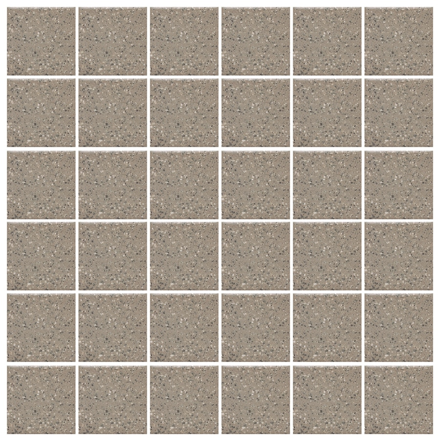 American Olean Unglazed Porcelain Mosaics Abrasive 12-Pack Mushroom Uniform Squares Mosaic Thru Body Porcelain Floor and Wall Tile (Common: 12-in x 24-in; Actual: 11.93-in x 23.93-in)
