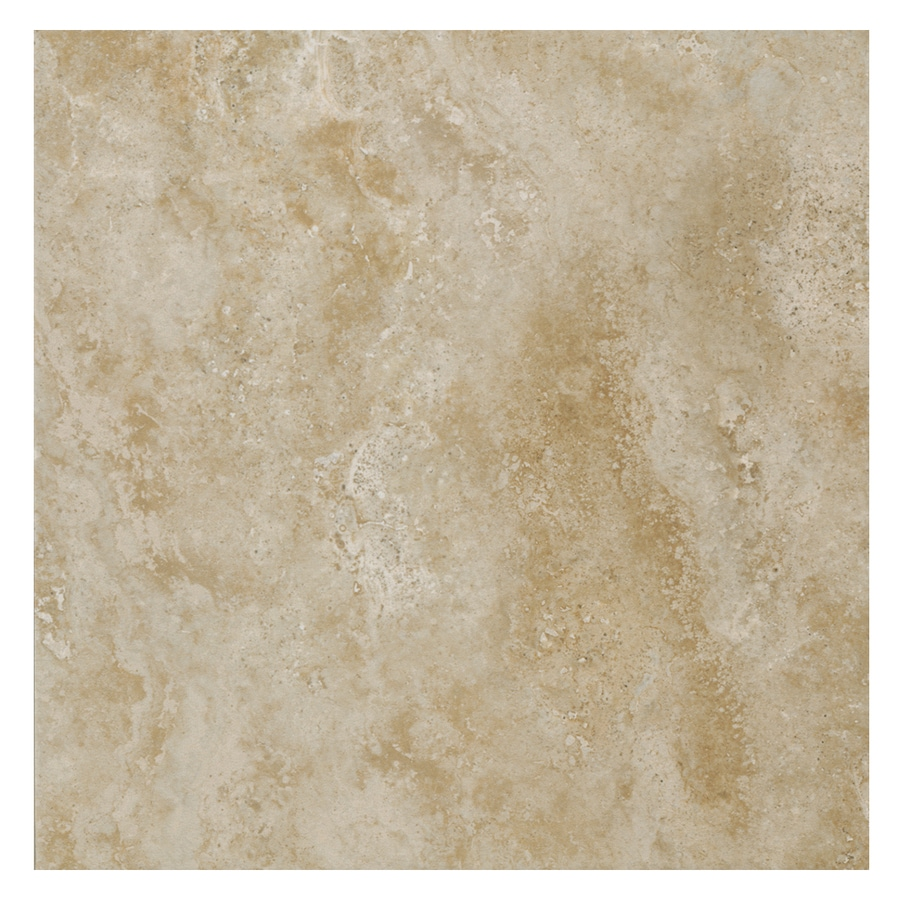 American Olean Stone Claire 14-Pack Bluff Porcelain Floor and Wall Tile (Common: 13-in x 13-in; Actual: 13.12-in x 13.12-in)