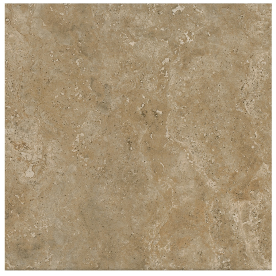 American Olean Stone Claire 14-Pack Russet Porcelain Floor and Wall Tile (Common: 13-in x 13-in; Actual: 13.12-in x 13.12-in)