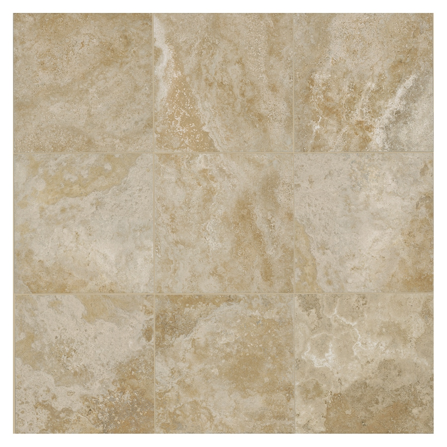 American Olean Stone Claire 6-Pack Bluff Porcelain Floor and Wall Tile (Common: 20-in x 20-in; Actual: 19.75-in x 19.75-in)