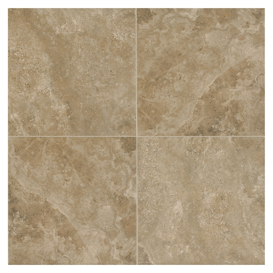American Olean Stone Claire 54-Pack Russet Porcelain Floor and Wall Tile (Common: 6-in x 6-in; Actual: 6.43-in x 6.43-in)