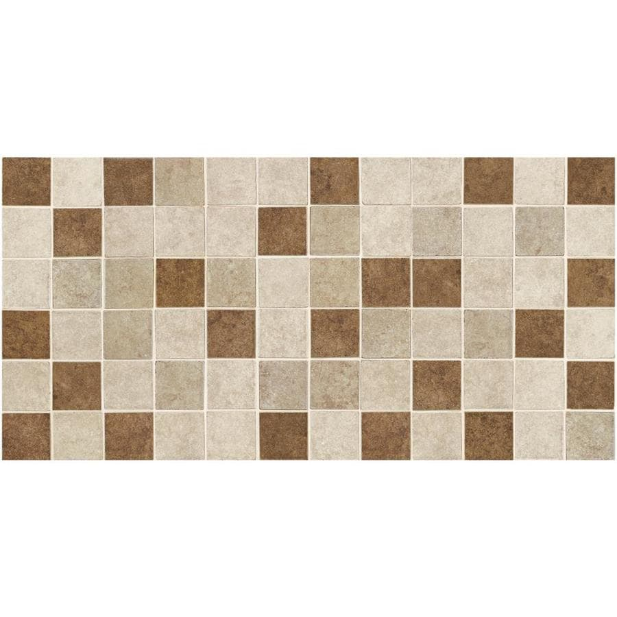 American Olean Castlegate 12-Pack Universal Uniform Squares Mosaic Ceramic Floor and Wall Tile (Common: 12-in x 24-in; Actual: 11.87-in x 23.87-in)