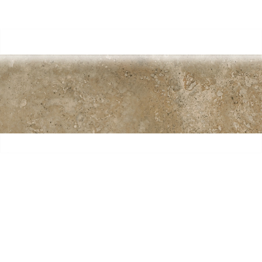 American Olean Stone Claire Russet Ceramic Bullnose Tile (Common: 3-in x 10-in; Actual: 3-in x 10-in)