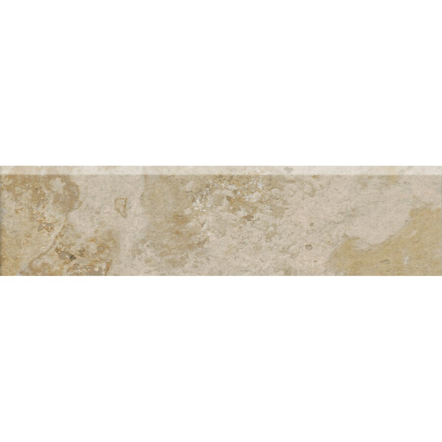 American Olean Stone Claire Bluff Porcelain Bullnose Tile (Common: 3-in x 13-in; Actual: 3-in x 13.12-in)
