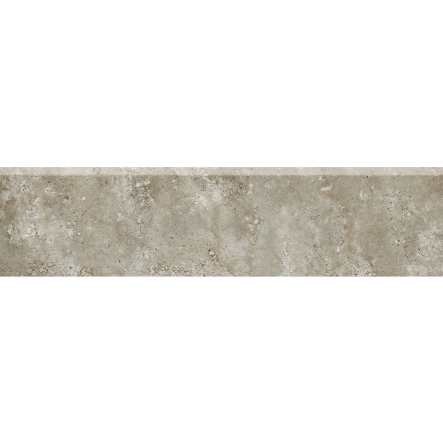 American Olean Stone Claire Ashen Porcelain Bullnose Tile (Common: 3-in x 13-in; Actual: 3-in x 13.12-in)