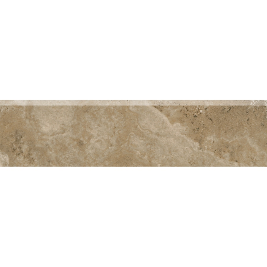 American Olean Stone Claire Russet Porcelain Bullnose Tile (Common: 3-in x 13-in; Actual: 3-in x 13.12-in)