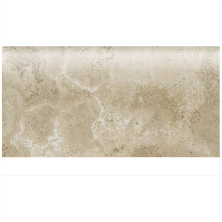 American Olean Stone Claire Bluff Ceramic Bullnose Tile (Common: 3-in x 6-in; Actual: 3-in x 6-in)