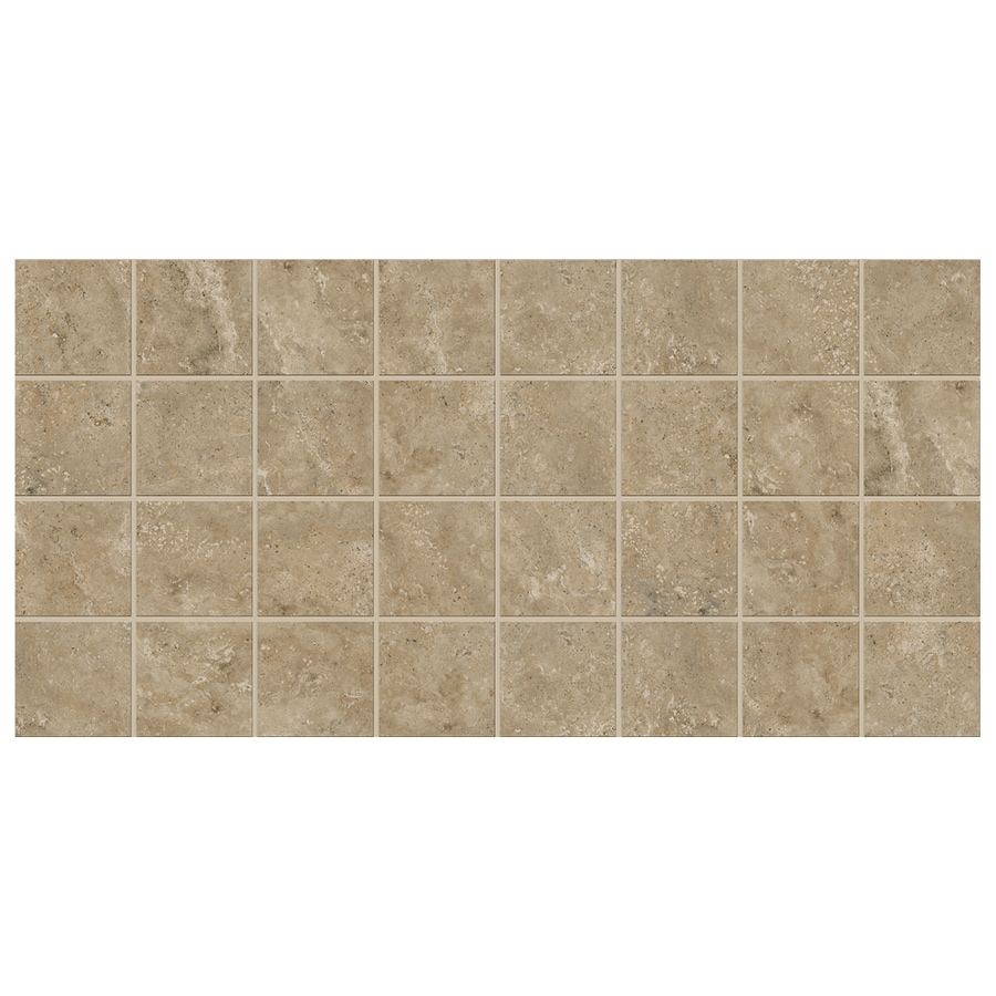 American Olean Stone Claire 12-Pack Russet Uniform Squares Mosaic Ceramic Floor and Wall Tile (Common: 12-in x 24-in; Actual: 11.93-in x 23.93-in)