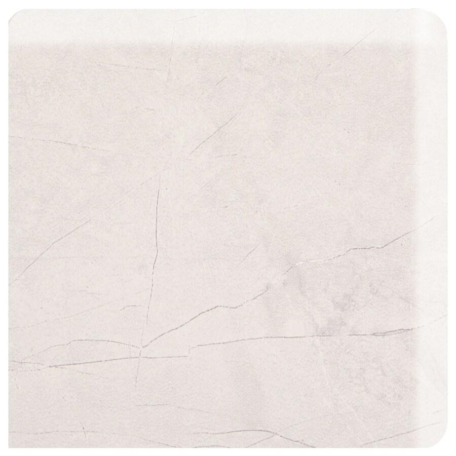 American Olean Bevalo Dove Ceramic Bullnose Tile (Common: 3-in x 3-in; Actual: 2.99-in x 2.99-in)