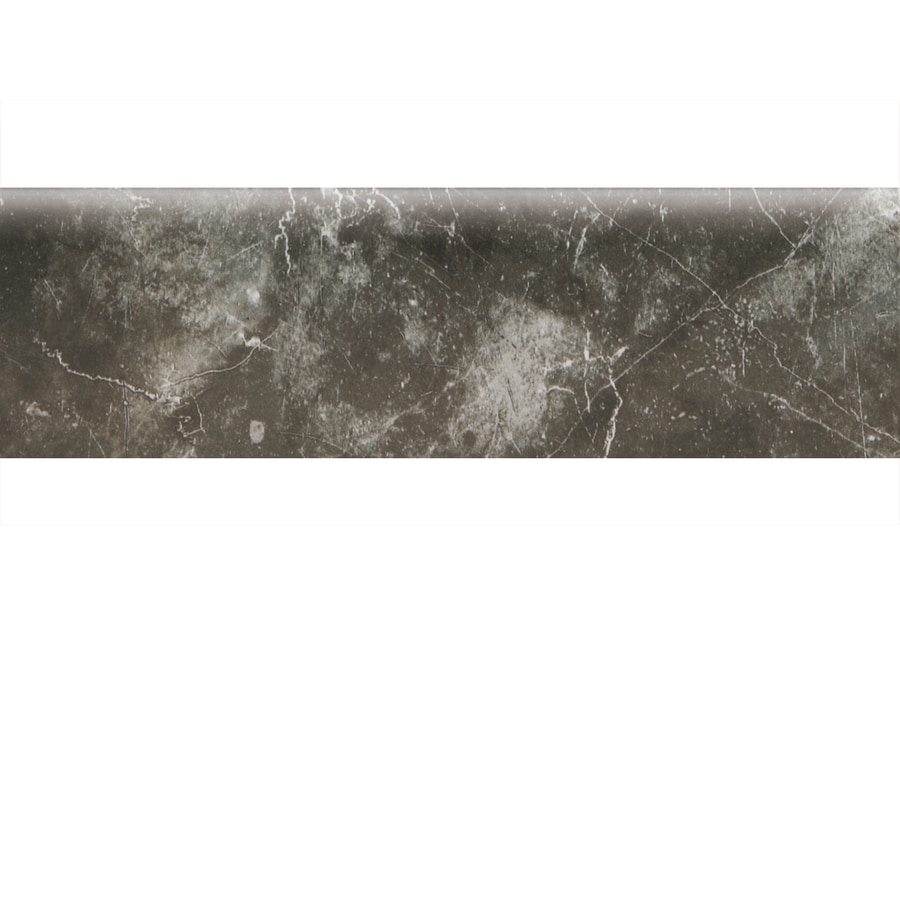 American Olean Bevalo Charcoal Ceramic Bullnose Tile (Common: 3-in x 10-in; Actual: 2.99-in x 10-in)