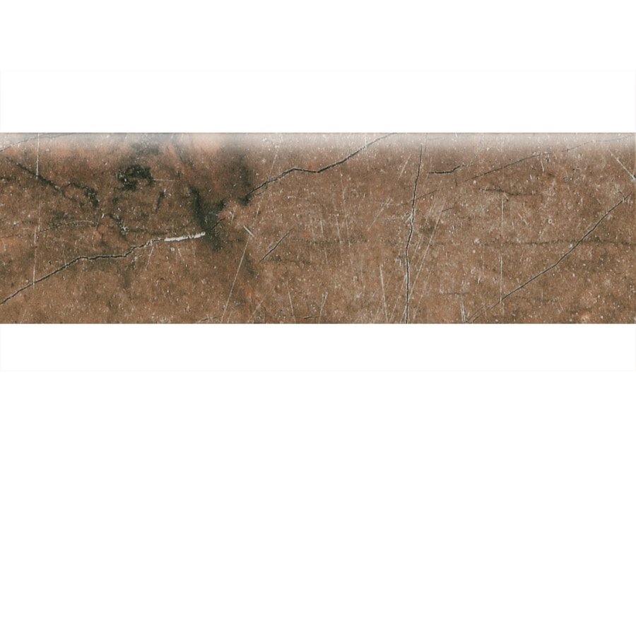 American Olean Bevalo Earth Ceramic Bullnose Tile (Common: 3-in x 10-in; Actual: 2.99-in x 10-in)