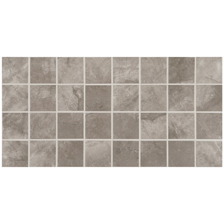 American Olean Bevalo 12-Pack Mist Uniform Squares Mosaic Ceramic Floor and Wall Tile (Common: 12-in x 24-in; Actual: 11.93-in x 23.93-in)