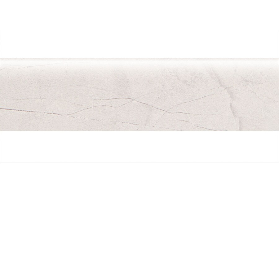 American Olean Bevalo Dove Ceramic Bullnose Tile (Common: 3-in x 12-in; Actual: 2.87-in x 11.81-in)