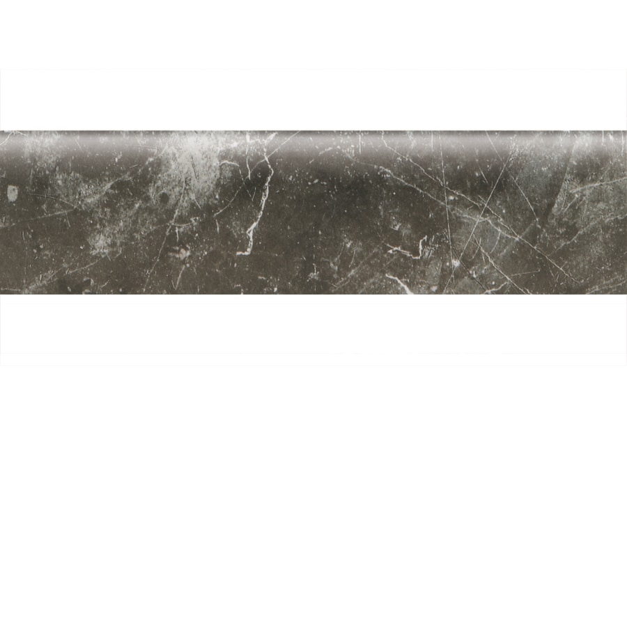 American Olean Bevalo Charcoal Ceramic Bullnose Tile (Common: 3-in x 12-in; Actual: 2.87-in x 11.81-in)