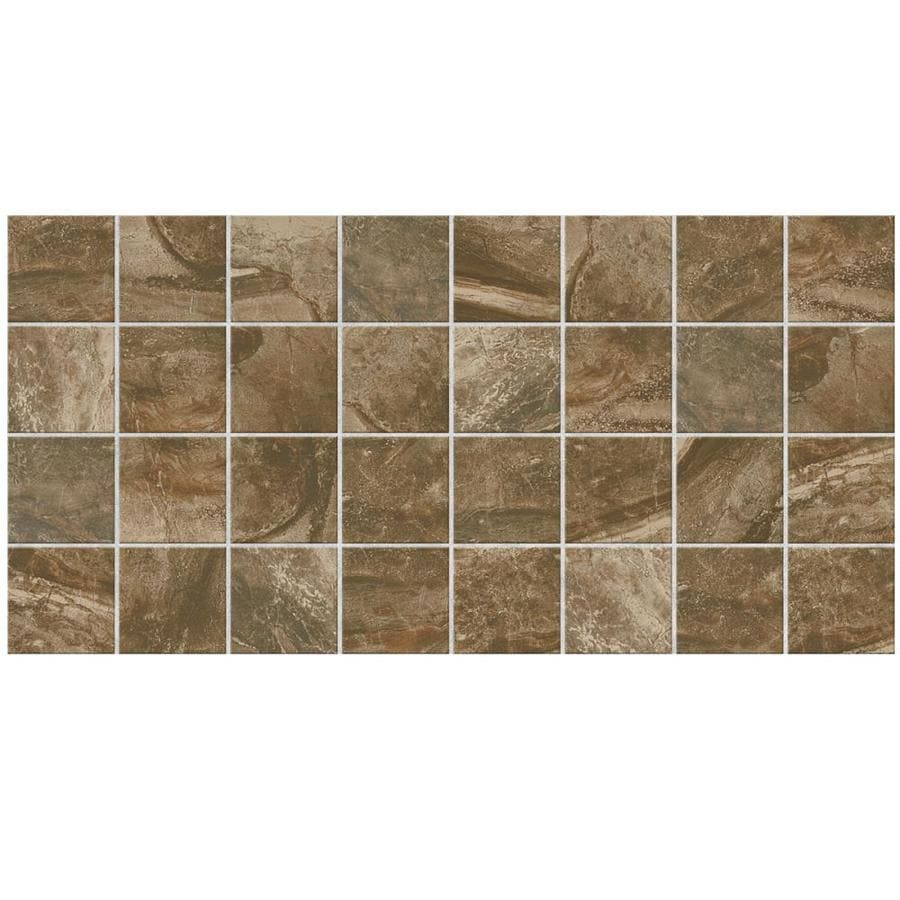 American Olean Danya 12-Pack Riverbed Uniform Squares Mosaic Ceramic Floor and Wall Tile (Common: 12-in x 24-in; Actual: 11.68-in x 23.62-in)
