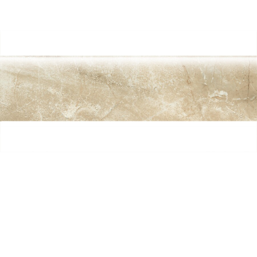 American Olean Danya Cove Porcelain Bullnose Tile (Common: 3-in x 12-in; Actual: 2.93-in x 11.81-in)