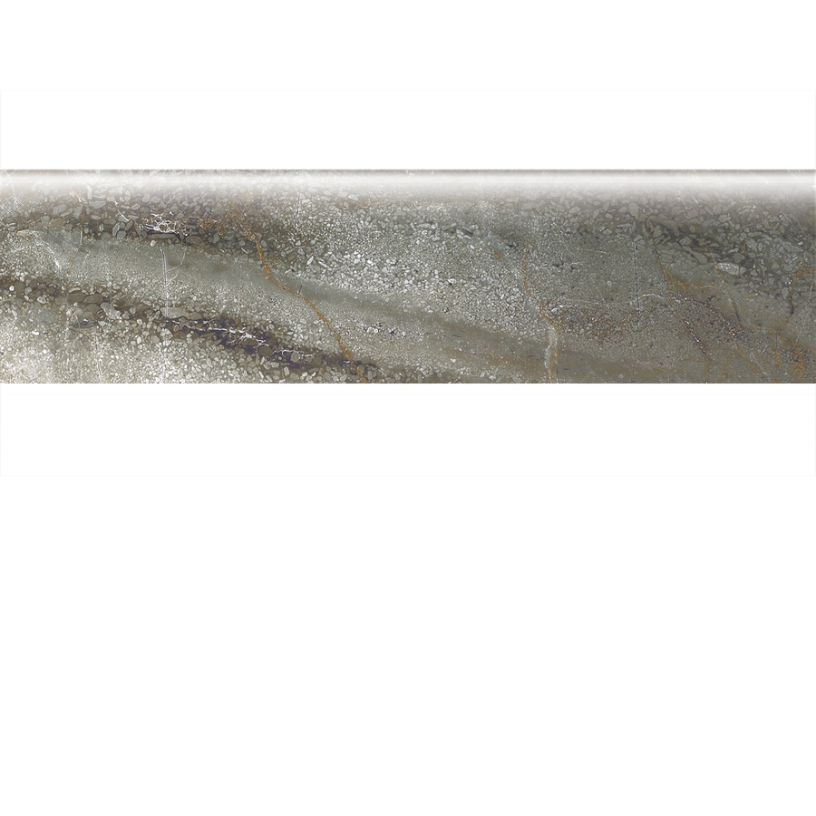 American Olean Danya Basin Porcelain Bullnose Tile (Common: 3-in x 12-in; Actual: 2.93-in x 11.81-in)