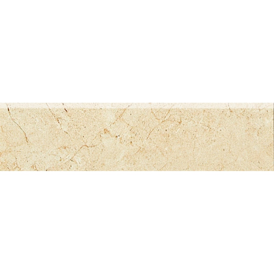 American Olean Mirasol Crema Laila Porcelain Bullnose Tile (Common: 3-in x 12-in; Actual: 2.87-in x 12-in)
