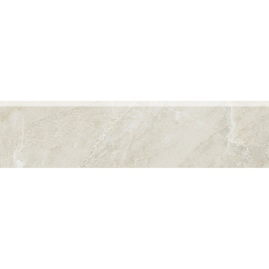 American Olean Mirasol Silver Marble Porcelain Bullnose Tile (Common: 3-in x 12-in; Actual: 2.87-in x 12-in)