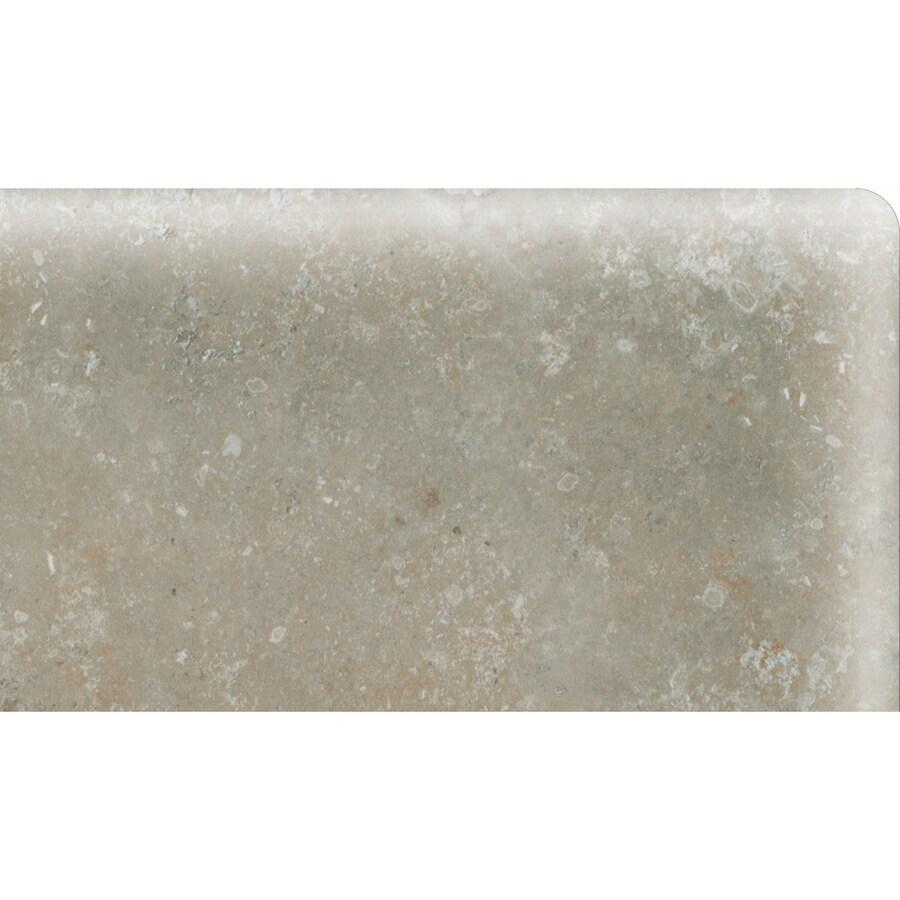 American Olean Stone Claire Ashen Ceramic Bullnose Corner Tile (Common: 3-in x 6-in; Actual: 3-in x 6-in)