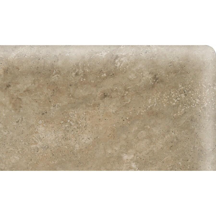 American Olean Stone Claire Russet Ceramic Bullnose Corner Tile (Common: 3-in x 6-in; Actual: 3-in x 6-in)