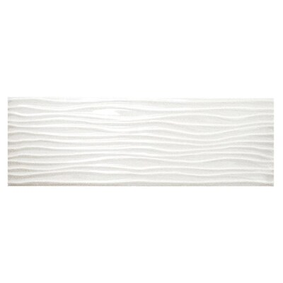 Allen Roth Wavecrest White Gloss 4 In X 12 In Ceramic
