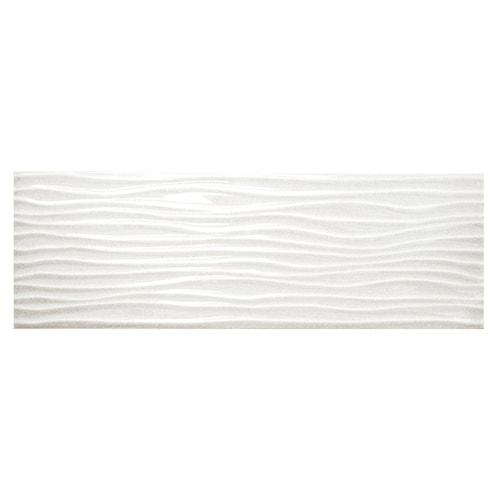 Allen Roth Wavecrest White Gloss 4 In