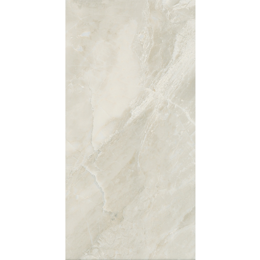 American Olean Mirasol 6-Pack Silver Marble Ceramic Wall Tile (Common: 12-in x 24-in; Actual: 11.62-in x 23.43-in)