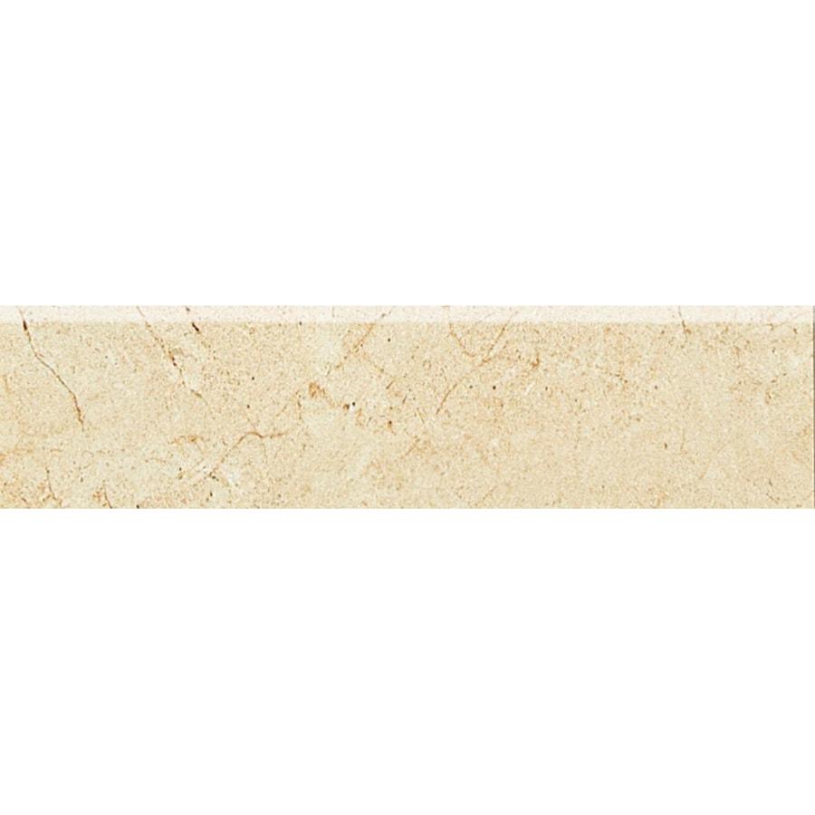 American Olean Mirasol Crema Laila Ceramic Bullnose Tile (Common: 3-in x 12-in; Actual: 2.87-in x 11.62-in)